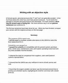 objective summary exles pdf exles