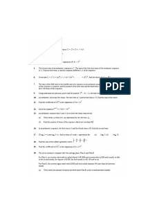 standard level ib maths revision booklet