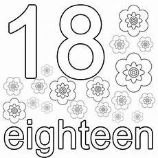 kostenlose malvorlage englisch lernen eighteen zum ausmalen