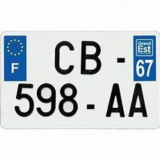 Plaque Immatriculation Aluminium 210 X 130 Mm D 233 Partement