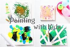 Leinwand Mit Kindern Gestalten - 4 ideen zum malen mit kindern auf leinwand
