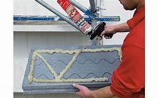 Pu Adhesive Foam Is Applied In W Shape For A Secure Adhesion