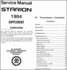 auto repair manual online 1984 mitsubishi starion electronic toll collection 1984 mitsubishi starion 4 speed automatic transmission