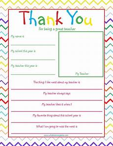 thank you card for teachers template free printable thank you note so