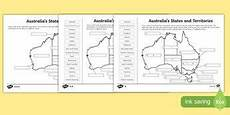australian states and territories differentiated activity sheets australia worksheet