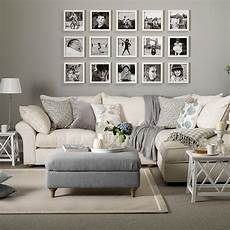 grey and taupe living room with photo display home decor living room decor home decor
