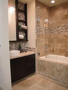 Bathroom Mosaic Tile Ideas Travertine And Glass Mixed Mosaic Bathroom