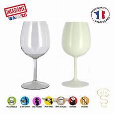 6 verres vin incassables reutilisables en tritan plastique