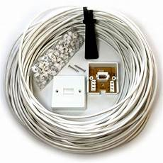 phone wiring 25m bt phone broadband wall socket extension cable kit 4 way reel wire lead 5055538198298 ebay
