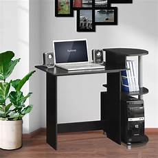 furinno compact black grey computer desk 11181bk gy the