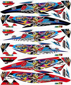 Variasi Motor Supra X by Jual Striping Variasi Supra X 125 Sticker Motor Stiker Di