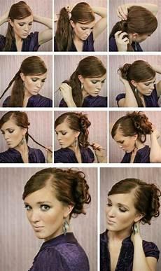 locken hochsteckfrisur lange haare abend frisuren