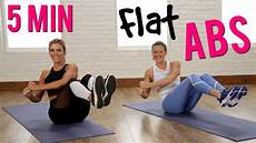 5 minute flat abs workout w popsugar youtube