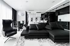moderne wohnzimmer schwarz weiss stunning black and white apartment in moscow home design