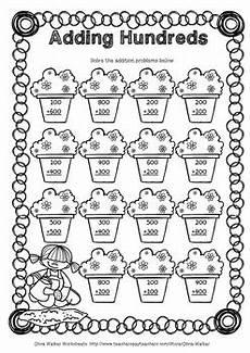 adding hundreds worksheets hundreds addition worksheets printables