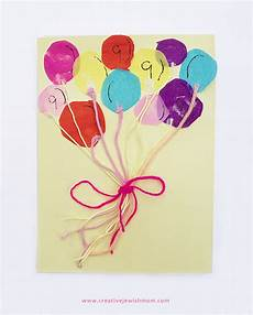 Geburtstag Karte Basteln - bunch of balloons birthday card craft for creative