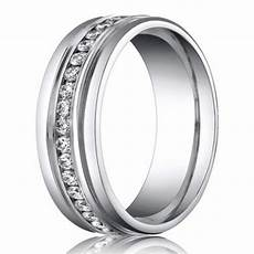 6mm benchmark palladium men s diamond eternity wedding ring justmensrings com