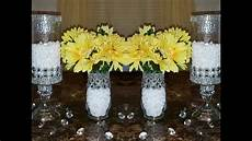 dollar tree diy upgraded bedazzled candleholders wedding