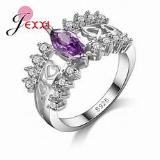 jexxi wholesale 925 sterling silver bridal wedding rings for cubic zirconia engagement