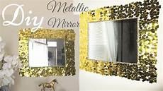 bilderrahmen verzieren ideen diy metallic gold wall mirror decor easy craft idea for