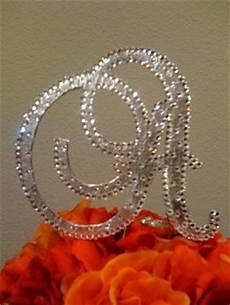 diy glam monogram cake topper project wedding