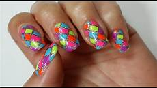rainbow nails easy nail art tutorial youtube