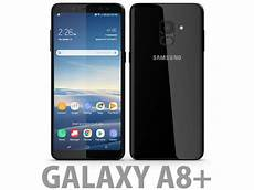 samsung galaxy a8 plus 2018 black 3d model cgtrader
