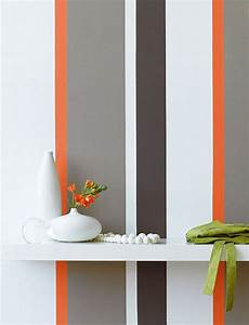 grey and orange striped wall painting stripes on walls