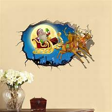 3d sticker pvc 3d christmas santa claus elk car sticker wall decals