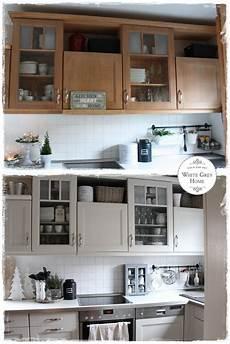 alte küche neu lackieren vorher nacher in der landhausk 252 che www whitegreyhome