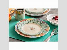 Corelle Impressions 16 Piece Dinnerware Set, Watercolors