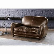 sofa leder braun vintage sofa 2 sitzer aus leder braun oxford maisons du