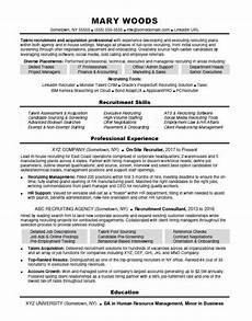 resume of it recruiter recruiter resume sle monster com