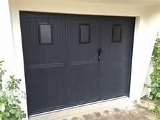 porte de garage battante pvc 3 vantaux thiebaut les