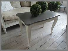 table basse en merisier atelierdes4saisons patin 201 e gris