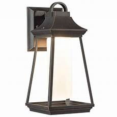 shop kichler lighting hartford 11 77 in h led rubbed bronze outdoor wall light at lowes com
