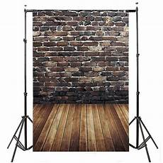 5x7ft Vinyl Wall Wood Floor Photography by 5x7ft Vinyl Brown Brick Wall Wood Floor Photography