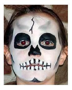 enfant squelette de maquillage et beaute