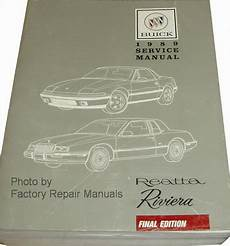 car repair manuals online pdf 1989 buick electra engine control 1989 buick riviera and reatta factory service manual original shop repair factory repair manuals