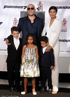 Vin Diesel Supported By And Children At