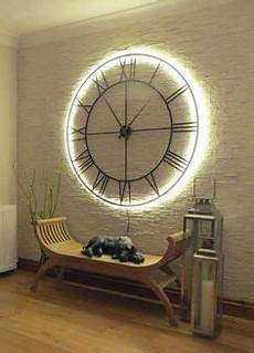 industrial oversized light up black skeleton clock in 2019