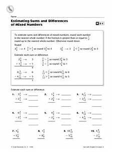 estimating difference worksheets for grade 3 8287 estimating sums and differences of mixed numbers worksheet for 5th 6th grade lesson planet