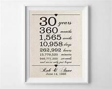 30 Year Wedding Anniversary Gift For