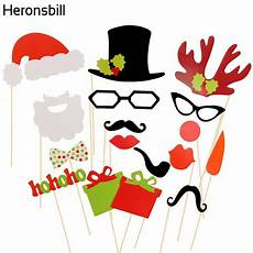 heronsbill 17 pieces photo booth props merry christmas 2017 decorations for home ornaments santa