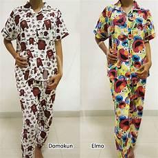 mk215 baju tidur celana panjang piyama katun jepang lucu doraemon mickey shopee indonesia