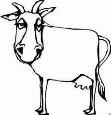 einfache kuh ausmalbild malvorlage tiere
