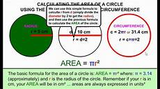 how to calculate the area of a circle from the radius