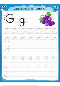 letter g is for grape handwriting practice worksheet free printable puzzle games