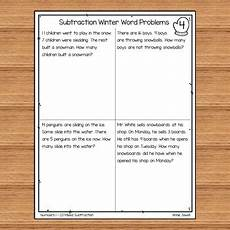 subtraction word problems worksheets for grade 1 10465 winter subtraction word problems numbers 1 20 for kindergarten and 1st grade