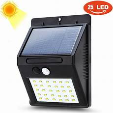 8 20 25 30 led outdoor solar powered pir motion sensor